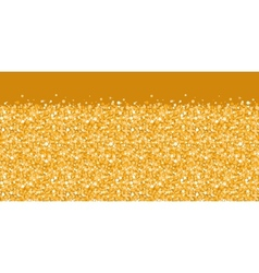 Golden shiny glitter texture horizontal border vector