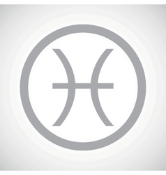 Grey pisces sign icon vector