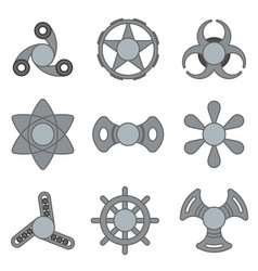 hand fidget spinner extra grey icon set vector image