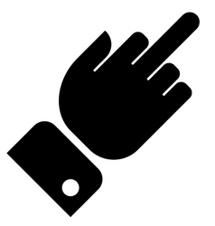 Hand showing middle finger gesture vector image vector image