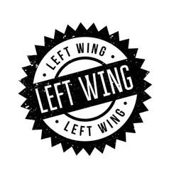 Left wing rubber stamp vector