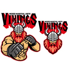 MMA fighter viking vector image vector image