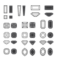 new diamonds set 02 vector image vector image
