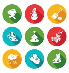 New years eve and christmas icons set vector