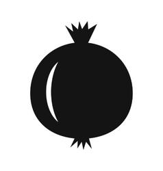 Pomegranate simple icon vector image vector image
