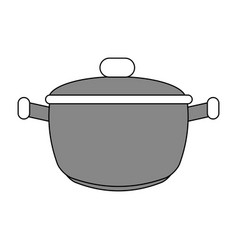 Saucepan flat vector