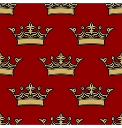 Seamless pattern of victorian crowns vector