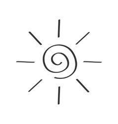 Spiral sun shining sign symbol Swirl shape Thin vector image vector image