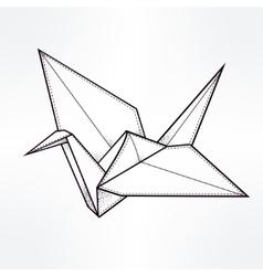 Stylized paper crane vector