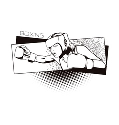 Summer kinds of sports Boxing vector image vector image