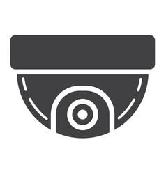 Surveillance camera solid icon cctv and security vector
