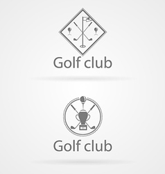 Two badge for golf club vector