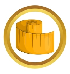 Measurement tape icon vector