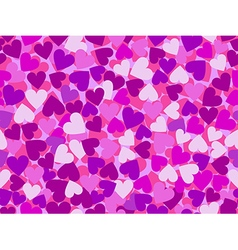 Valentines day seamless pattern with pink hearts vector