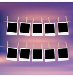 Photo Frames on Rope6 vector image