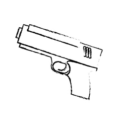 Figure pistol police icon image vector