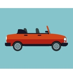 Convertible car sport vehicle vector