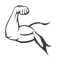bodybuilder muscle flex arm vector image
