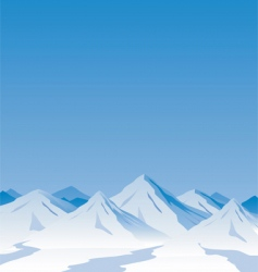 Mountain scene vector