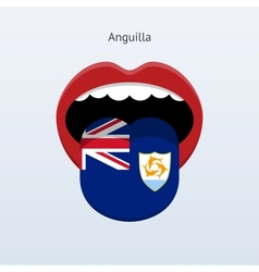 Anguilla language abstract human tongue vector
