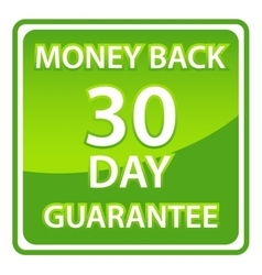 30 days money back guarantee vector image