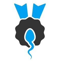 Sperm winner icon vector