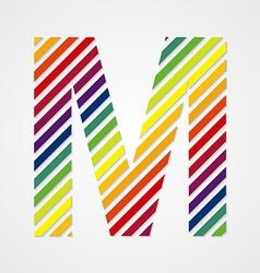 Alphabet Letter M vector image