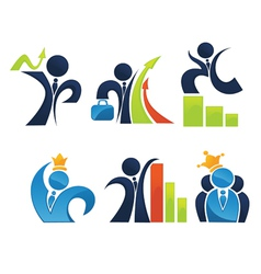 business team and leadership vector image