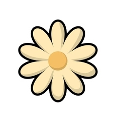 Flower icon nature and plant design vector