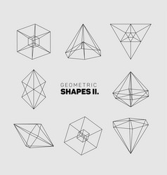 abstract regular geometric shapes vector image vector image