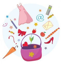 bag objects vector image