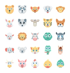 Birds and animals faces-1 vector