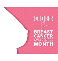 Breast cancer awareness poster woman silhouette vector image vector image
