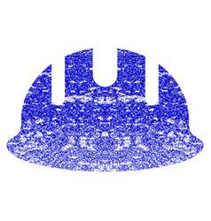Builder hardhat grunge textured icon vector