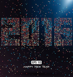 Colorful dots 2016 font design composition can be vector