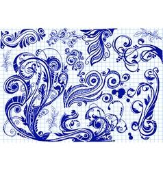 Doodle swirls vector image vector image