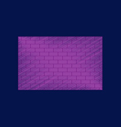 Flat shading style icon brick wall vector