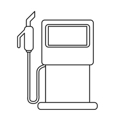 Gasoline pupm station ecological thin line vector