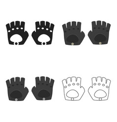 Leather gloves icon of for web vector