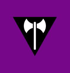 Lesbian labrys pride flag vector