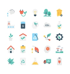 Nature and ecology icons 2 vector