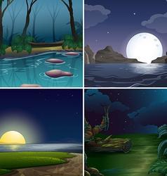Night scene vector image vector image