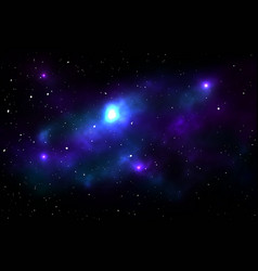 Night sky with stars and nebula vector