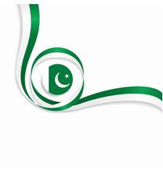 Pakistani wavy flag background vector