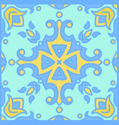 Portuguese azulejo tiles blue and white gorgeous vector