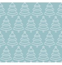 Seamless Christmas tree pattern vector image vector image