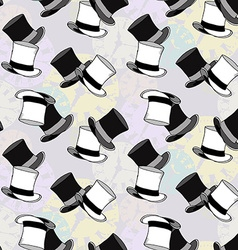 Seamless Watch Hat Pattern vector image vector image