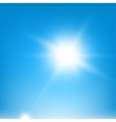 Sky Blue Beams vector image vector image