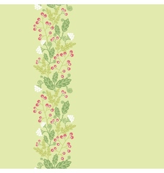 Summer berries vertical seamless pattern vector image
