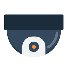 Surveillance camera flat icon cctv and security vector